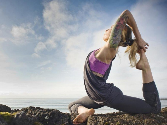 Боль в колене йога