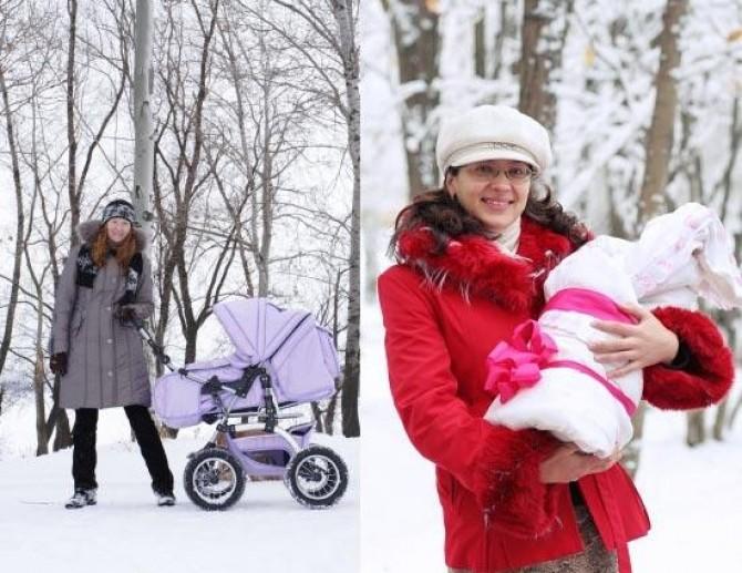 Как гулять с новорожденным зимой?.